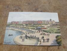 J Salmon postcard  - Kings Gardens Southport - Artist A.R Quinton