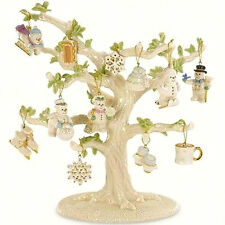 Lenox SNOW PALS Mini Ornaments Set 12 Piece Winter Christmas New! (No Tree)