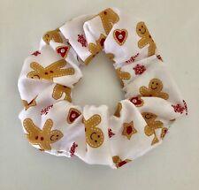 Christmas Handmade White Gingerbread Man Hair Scrunchie Women/Girl Accessories