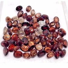 Natural Brown Zircon Gemstone Untreated Certified Oval Lot of 14-15cts. 10 pcs.