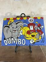 "VINTAGE 42 ""Diamond"" Dumbo GAS & OIL PLATE HEAVY PORCELAIN SIGN 16.5 INCH"