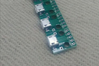 3 x Female Micro USB to DIP Adapter Converter 2.54mm PCB Breakout Board