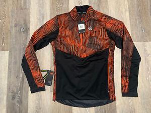 Men's Nike Thermore 1/2 Zip Running Jacket Size XS Orange CK0035-808 $110
