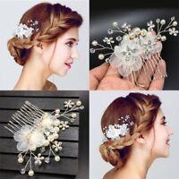 Mode Nuptiale Cristal Perle Cheveux Peigne Mariage Fleur Bandeau Coiffure Bijoux