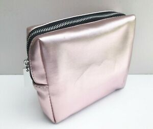 """1x YSL Beauty Champagne Gold """"Lip"""" Makeup Cosmetics Bag / Pouch / Clutch, New!"""