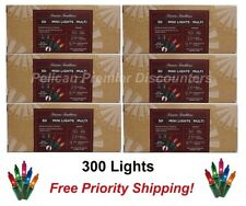 Mini Holiday Lights Multi Colored Steady Burning or Flashing 300 Count