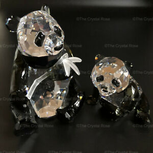 RARE Swarovski Crystal Annual Edition 2008 Pandas Mother & Cub 900918 Mint Boxed