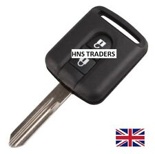 """Replacement 2 Button Key Case For Nissan Micra Navara Note X-Trail + LOGO"""" A05"""
