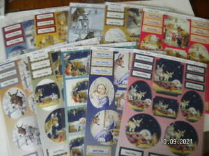 Beautiful Audrey Tarrant Die Cut Christmas Toppers. Choice of 10 Designs. (X72)