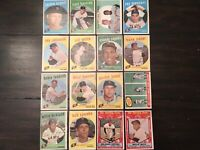 ⚾️1959 Topps Baseball San Francisco Giants Lot Of 16 Willie Mays-three Cards ⚾️