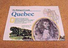 Vintage National Geographic March 1991 Map Quebec Making Of Canada