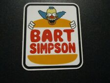 PRIME SKATEBOARDS Krusty Bart Burger simpsons STICKER skate helmets decal