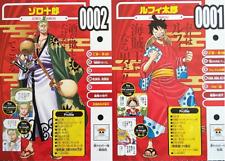 ONE PIECE VIVRE CARD ONE PIECE Illustration 0001 Luffy & 0002 ZORO set Japan