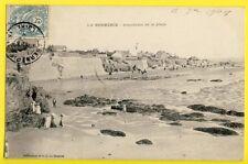 CPA France 44 - LA BERNERIE (Loire Atlantique) PANORAMA de la PLAGE en 1904