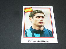 N°195 FERNANDO HIERRO ESPAGNE ESPAÑA BROCA PANINI FOOTBALL 1994 USA 94 WM94