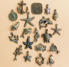 Marine Charm Collection Antique Bronze Tone 20 Charms - Col298