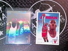 1991-92 Upper Deck Michael Jordan Hologram + Checklist Chicago Bulls Holo