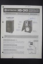 Hitachi hs-310 Sistema de altavoces INSTRUCCIONES EMPLEO / Usuario Propietario`S