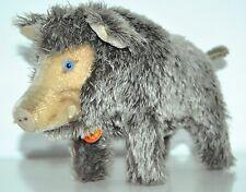 "VTG STEIFF MOHAIR CUTE WILD BOAR 30 sm/11.8""antique stuffed animal original pig"
