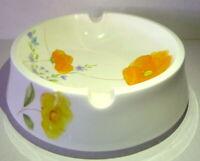 Ashtray MIKASA Bone China Dancing Flowers A8275 Floral Orange Yellow 1970s VTG