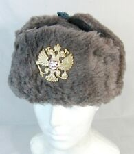 Russian Army Winter Fur Hat Imperial Eagle Badge Original 90's Surplus *56 Smal
