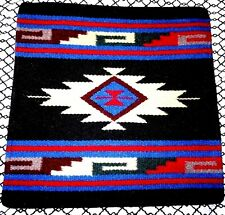 New Southwest   Wool  Hand woven  Pillow Cover Sofa Decor 18 x 18  Black.