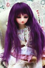 1/4 Brand new  dollfie BJD MSD LUTS hair wig Purple  26P-1#