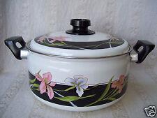 Vintage Sango Cookware 5 QT Heavy Floral Dutch Covered Oven Pot In Original Box