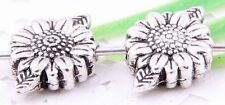 Wholesale 28/64Pcs Tibetan Silver (Lead-Free)Flower Spacer Beads 13x9mm