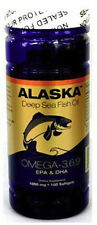 4 x Alaska Deep sea Fish Oil Omega-3,6,9, EPA/DHA Flaxseed Oil 100 Sg/bottle