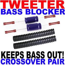 Tweeter Protection Bass Blockers Crossovers Capacitor Pair For 1 Set of Tweeters
