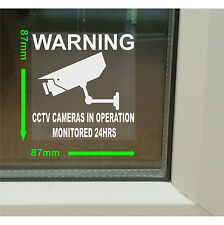 6 x CCTV Camera Security Warning Window Stickers-Home,Business Notices Signs