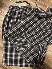 Roundtree & Yorke Mens Sleepwear Flannel Set Size Large Black Plaid