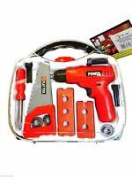 Kids tool set toy tool box pretend play 12 pcs