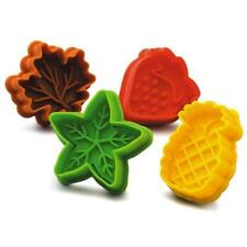 Fruit & Leaves Cookie Cutter and Stamper Set of 4
