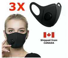 [3-Pack] - Reusable Washable Face Mask with Breathing Valve