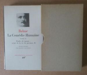 (LA PLÉIADE)  --- BALZAC. LA COMÉDIE HUMAINE. TOME IV ---  1966