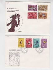 liechtenstein 1972 Sc 492/9,two FDC          g44