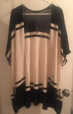 NWT Apt 9 Plus Size Draped Poncho Cardigan One Size Black Sand