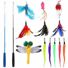 POPETPOP Feather Cat Wand Interactive Toy - Multicoloured