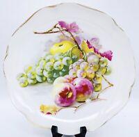 "Vtg Rosenthal RC Crysantheme Bavaria Handpainted Fruit Motif Cabinet Plate 8""W"
