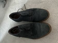 Navy Suede Brogue Laced Mens Shoes Size 8 From Next