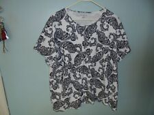 Croft and Barrow womens black and white  3x blouse, blouse, casual dress blouse
