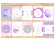 Baby Milestone Age Cards | Flat Lay | 15 Cards | Watercolour | Newborn gift mum
