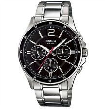 Casio MTP-1374D-1 New Original Analog Silver Stainless Steel Mens Watch MTP1374D