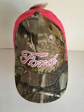 Ford REALTREE Camo Men's Hat Cap Snapback Brown Pink Adjustable New with Tag