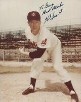 Herb Score Cleveland Indians Autographed 8x10 Photo