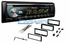 NEW PIONEER CAR STEREO RADIO WITH BLUETOOTH & XM & DASH INSTALL KIT & WIRING