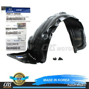⭐GENUINE⭐ Fender Liner Front Driver for 10-16 Hyundai Genesis Coupe 868112M500