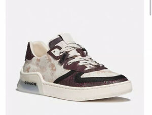 New Coach Citysole Court Horse Carriage Snakeskin Sneaker 9 9.5 10 B Leather